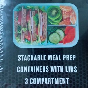Lunch boxes kids adults 3 compartment with lids